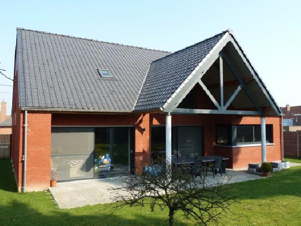 Habitation neuve Mouscron - bâtiment basse énergie pompe a chaleur et sondage géothermique
